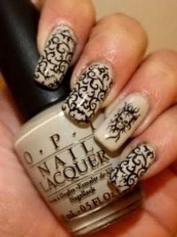 Интересный дизайн ногтей для осени