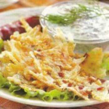 Золотистые сырные чипсы